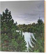 003 Hoyt Lake Autumn 2013 Wood Print
