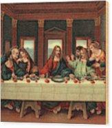 0030s The Last Supper After Leonardo Da Wood Print