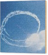 0036 - Air Show - Pastel Chalk Wood Print
