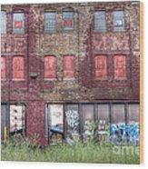 0037 Abandoned Warehouse Wood Print