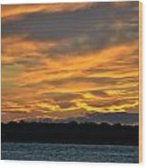 004 Awe In One Sunset Series At Erie Basin Marina Wood Print