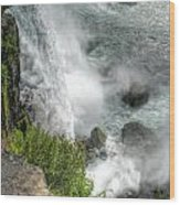 004 Niagara Falls Misty Blue Series Wood Print