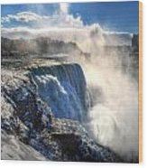 004 Niagara Falls Winter Wonderland Series Wood Print