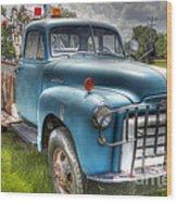 0042 Old Blue 2 Wood Print
