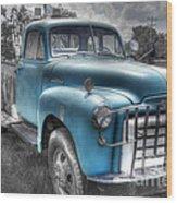 0043 Old Blue Wood Print