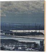 0046 Winter Turbines  Wood Print