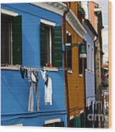 0049 Burano Colors 4 Wood Print