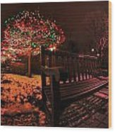 005 Christmas Light Show At Roswell Series Wood Print