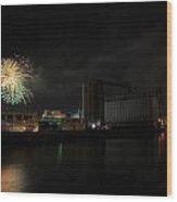 005 ...the Bombs Bursting In Air...4jul13 Series Wood Print by Michael Frank Jr