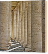 0056 Roman Pillars St. Peter's Basilica Rome Wood Print