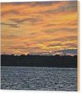 006 Awe In One Sunset Series At Erie Basin Marina Wood Print