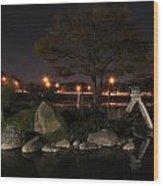 006 Japanese Garden Autumn Nights   Wood Print