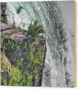 006 Niagara Falls Misty Blue Series Wood Print