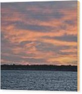 007 Awe In One Sunset Series At Erie Basin Marina Wood Print