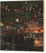 007 Christmas Light Show At Roswell Series Wood Print