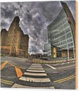 007 City Hall And The Court House Wood Print