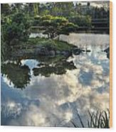 007 Delaware Park Japanese Garden Mirror Lake Series Wood Print