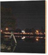 007 Japanese Garden Autumn Nights   Wood Print