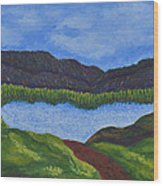 007 Landscape Wood Print