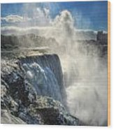 007 Niagara Falls Winter Wonderland Series Wood Print