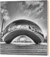 0079 The Bean - Millennium Park Chicago Wood Print