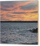 008 Awe In One Sunset Series At Erie Basin Marina Wood Print