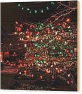 008 Christmas Light Show At Roswell Series Wood Print