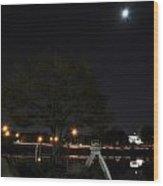 008 Japanese Garden Autumn Nights   Wood Print