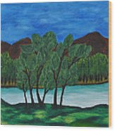 008 Landscape Wood Print