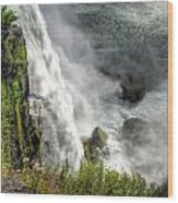 008 Niagara Falls Misty Blue Series Wood Print