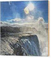 008 Niagara Falls Winter Wonderland Series Wood Print
