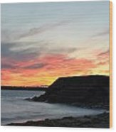 009 Awe In One Sunset Series At Erie Basin Marina Wood Print