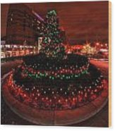 009 Christmas Light Show At Roswell Series Wood Print
