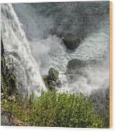 009 Niagara Falls Misty Blue Series Wood Print