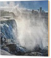 009 Niagara Falls Winter Wonderland Series Wood Print