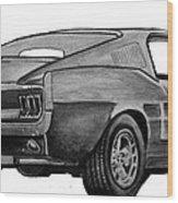 010-stang Wood Print