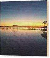 0103 Sunset Twilight On Santa Rosa Sound Wood Print