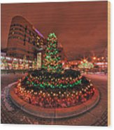 012 Christmas Light Show At Roswell Series Wood Print