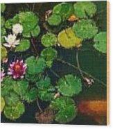 0148-lily -  Expressionist Plein Air Sl Wood Print