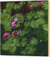 0151-lily - Chalk 1 Sl Wood Print