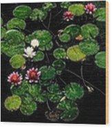 0151-lily - Embossed Sl Wood Print