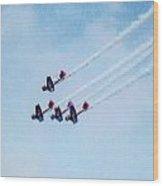 0161 - Air Show - Expressionist Plein Air Wood Print