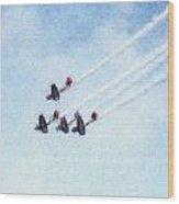0161 - Air Show - Pastel Chalk 2  Wood Print