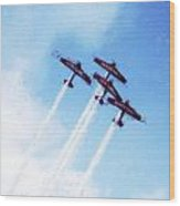 0166 - Air Show - Acanthus Wood Print