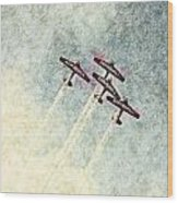 0166 - Air Show - Colored Photo 2 Hp Wood Print