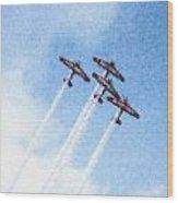 0166 - Air Show - Pastel Chalk 2 Wood Print