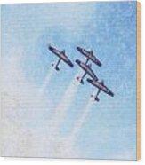 0166 - Air Show - Synchro Wood Print