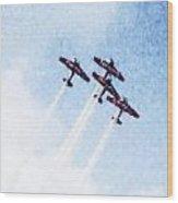 0166 - Air Show - Watercolor 1 Wood Print