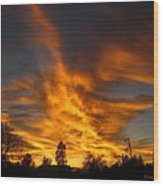 02 05 11 Sunset Two Wood Print
