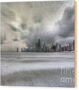 0242 Wintry Chicago Wood Print